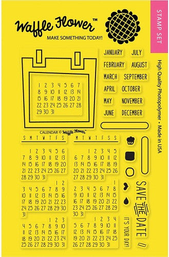"Waffle Flower Crafts Clear Stamps 4"" x 6"" Calendar 271020 