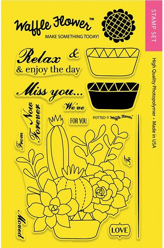 "Waffle Flower Crafts Clear Stamps 4"" x 6"" Potted 271025 
