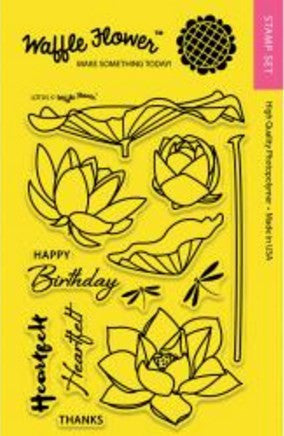 "Waffle Flower Crafts Clear Stamps 4"" x 6"" Lotus 271041 