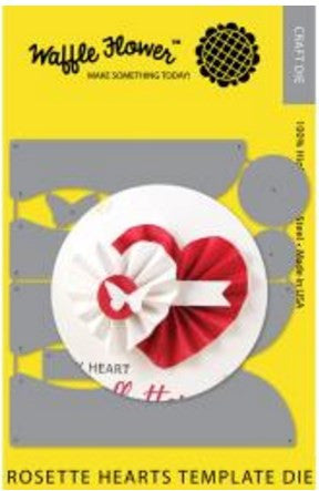 Waffle Flower Die Rosette Hearts Template WF310030 | Maple Treehouse