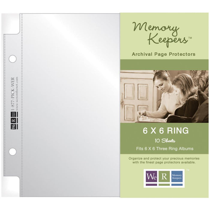We R Memory Keepers We R Ring Photo Sleeves 6 X 6 10pkg Full Page