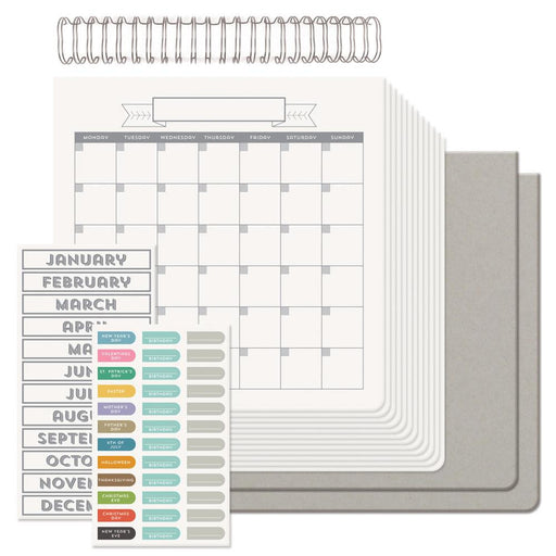 "We R Memory Keepers Cinch Calendar Kit 12.5"" x 13.25"" Covers, Pages & Wire 62360 
