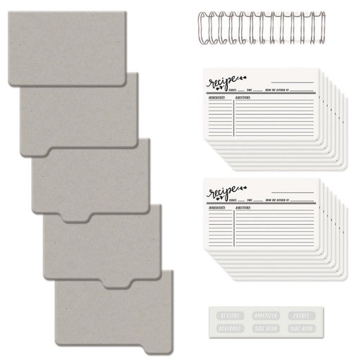 "We R Memory Keepers Cinch Recipe Book Kit 6"" x 7"" Covers, Pages & Wire 62362 