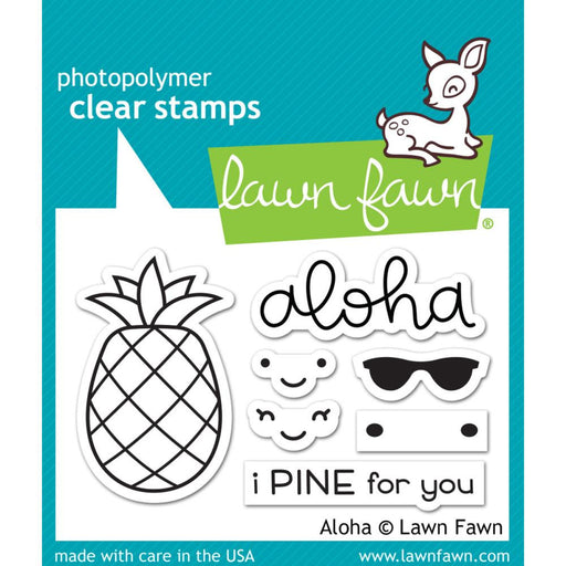 "Lawn Fawn Clear Stamps 3""X2"" Aloha LF1417"