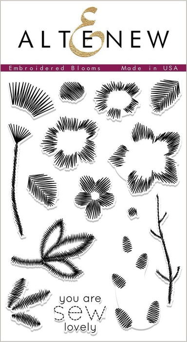 "Altenew 4"" x 6"" Clear Stamp Embroidered Blooms"
