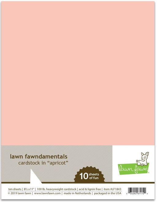 Lawn Fawn Cardstock 8.5 x 11 Apricot LF1843