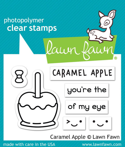 "Lawn Fawn 2"" x 3"" Clear Stamp Caramel Apple LF1759"