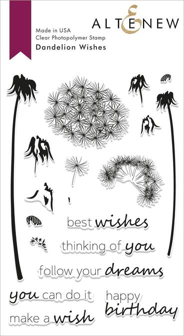 "Altenew 4"" x 6"" Clear Stamp Dandelion Wishes"