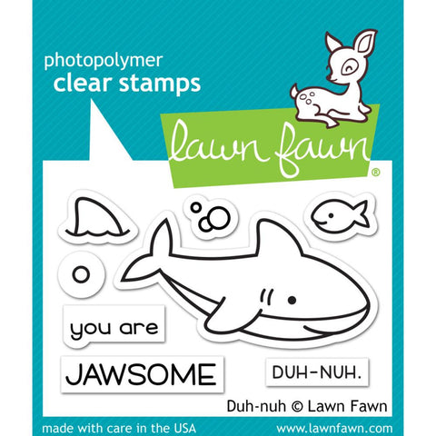 "Lawn Fawn Clear Stamps 3""X2"" Duh-nuh LF1419"