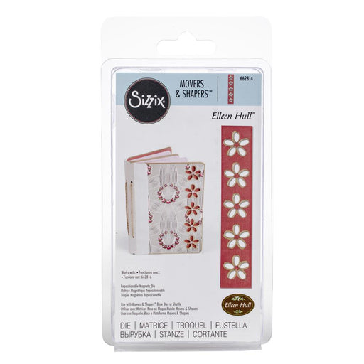 Sizzix Movers & Shapers Magnetic Die By Eileen Hull Floral Cutouts 662814