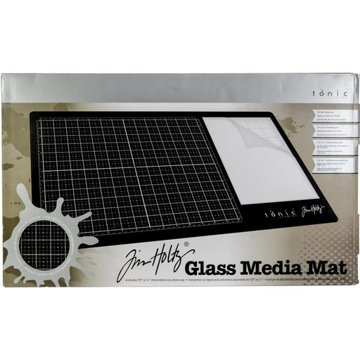 "Tim Holtz Glass Media Mat 23.75""X14.25"" 1914E"