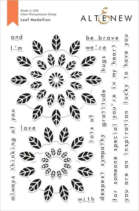 "Altenew 6"" x 8"" Clear Stamp Leaf Madellion"