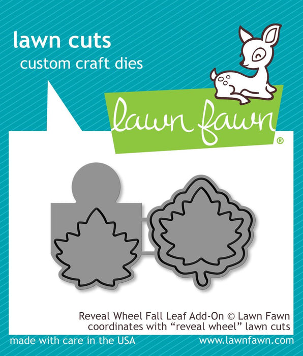 Lawn Fawn Cuts Reveal Wheel Fall Leaf Add-On