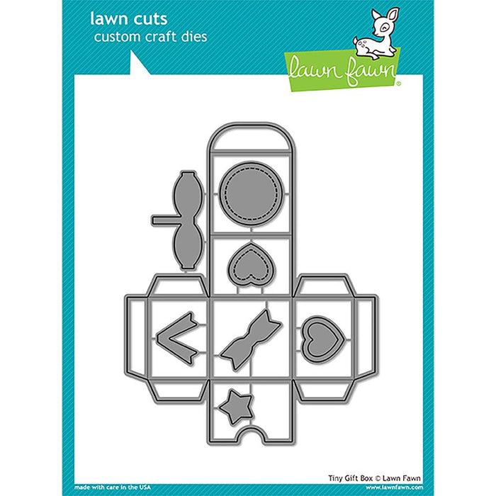 Lawn Fawn Lawn Cuts Custom Craft Dies Tiny Gift Box LF1485