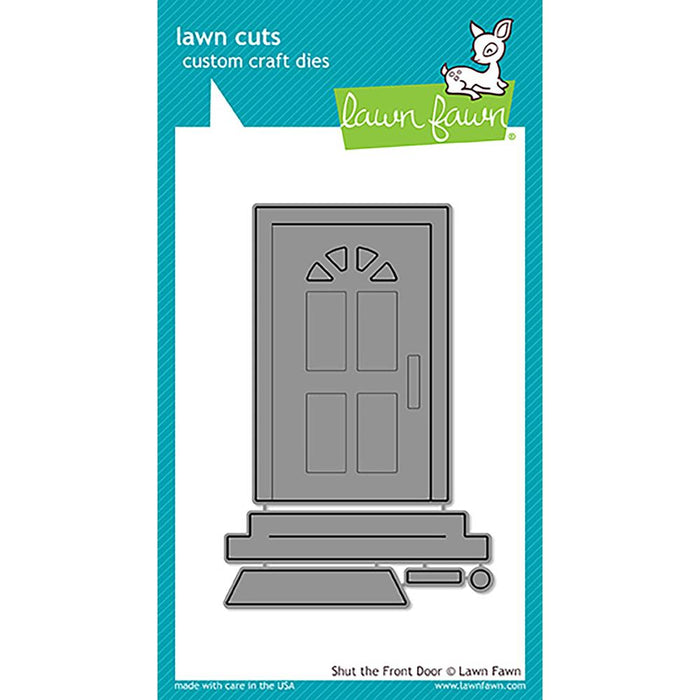 Lawn Fawn Lawn Cuts Custom Craft Dies Shut The Front Door LF1495