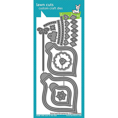 Lawn Fawn Lawn Cuts Custom Craft Dies Stitched Ornaments LF1498