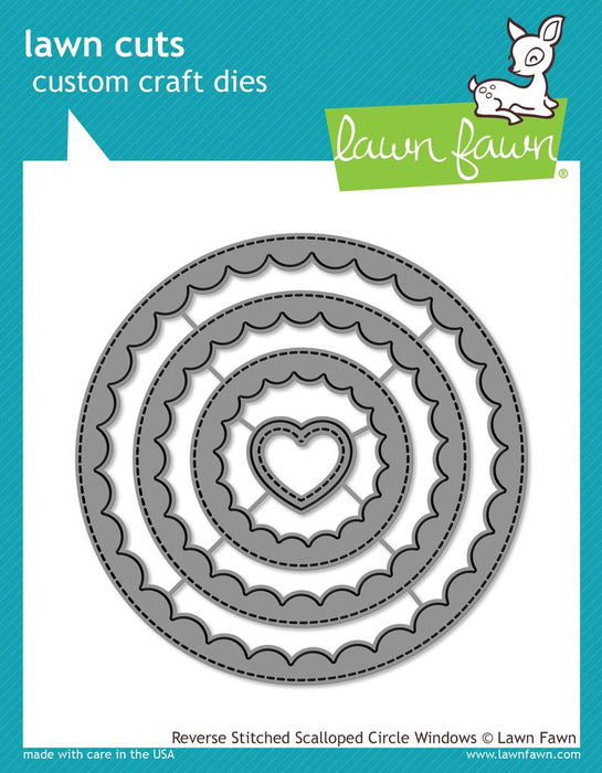 Lawn Fawn Cuts Reverse Stitched Scalloped Circle Windows