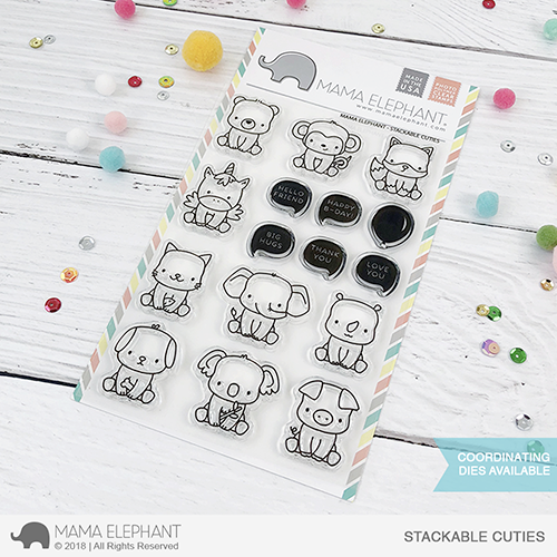 Mama Elephant 4x6 Photopolymer Stamp Stackable Cuties