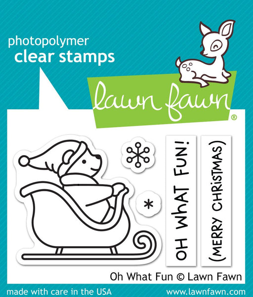 "Lawn Fawn 2"" x 3"" Clear Stamp Oh What Fun LF1776"