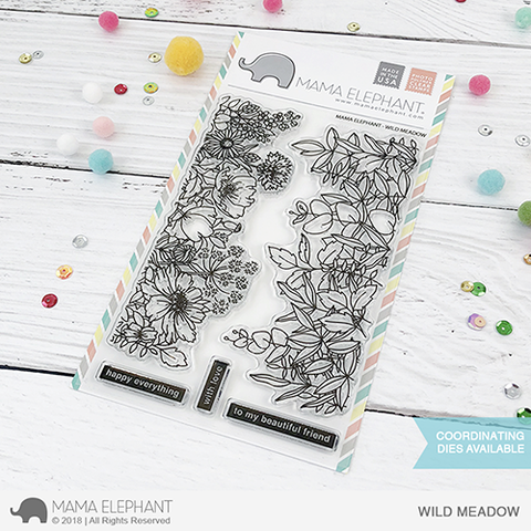Mama Elephant 4x6 Photopolymer Stamp Wild Meadow