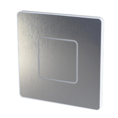 Switch plate, Haptic feedback, lighting control, light switch, Stainless Steel, 1-Wire, Temperature Sensor