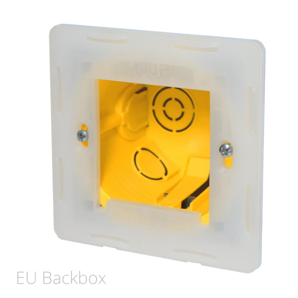 Switch plate, Haptic feedback, lighting control, light switch, Matt White, White, 1-Wire, Temperature Sensor