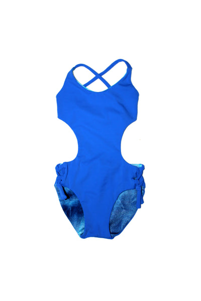 YOKO monokini | BLUE TYEDYE & ROYAL | GIRLS