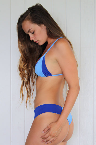 Sakura Bottoms (thong) | BLUE TIEDYE & PERI/ROYAL | Limited Edition