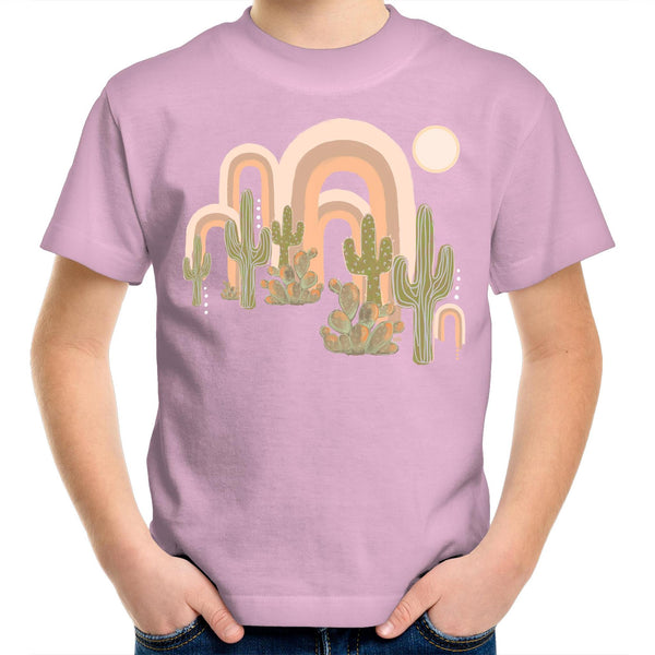 Desert Rainbows Kids Youth Crew T-Shirt