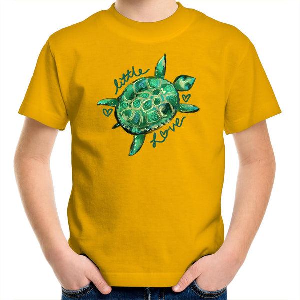 Little Love Turtle Kids Youth Crew T-Shirt