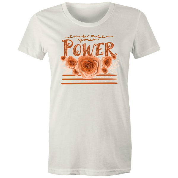 Embrace your Power - Women's Maple Organic Tee