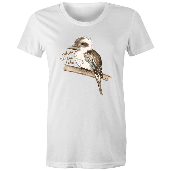 Kookie the Laughing Kookaburra - Women's Maple Organic Tee