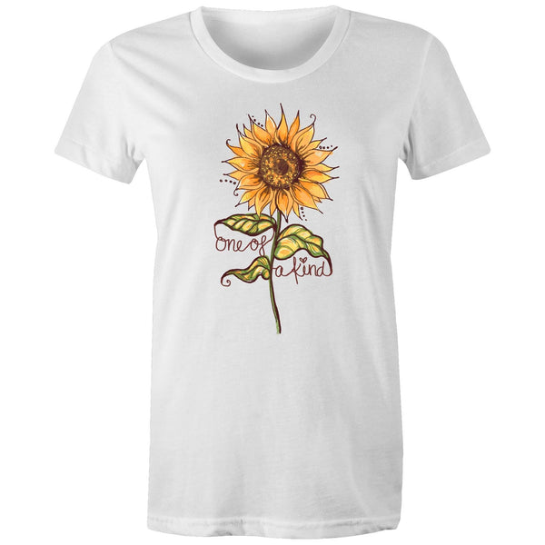 One of a Kind (sunflower)  - Women's Maple Organic Tee