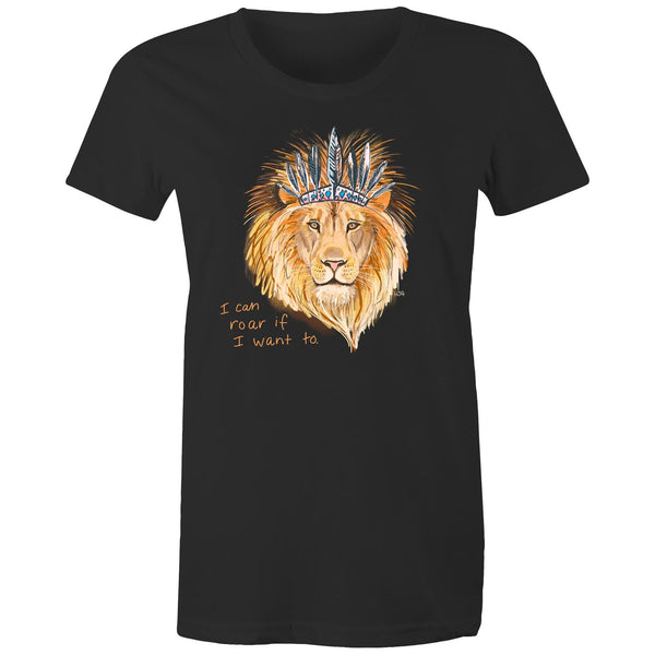 Boho Lion- Women's Maple Organic Tee