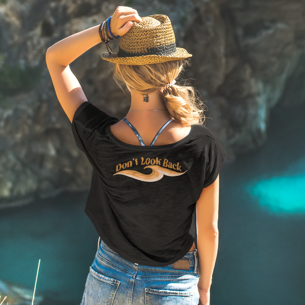 Don't Look Back - Women's Maple Organic Tee (*Back print*)
