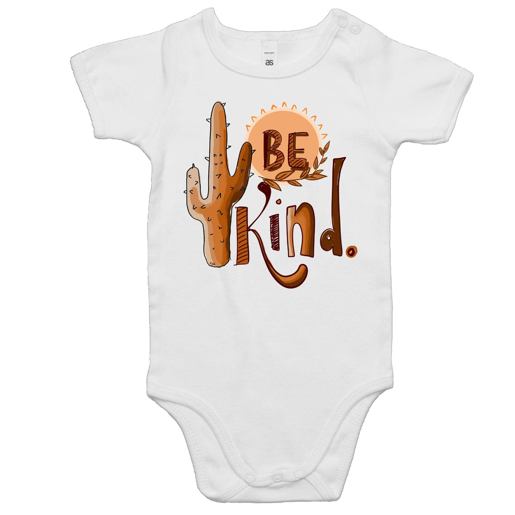 Be Kind (Black outline) - Baby Onesie Romper