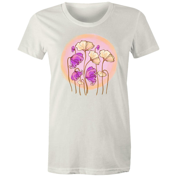Wild Poppies - Women's Maple Organic Tee