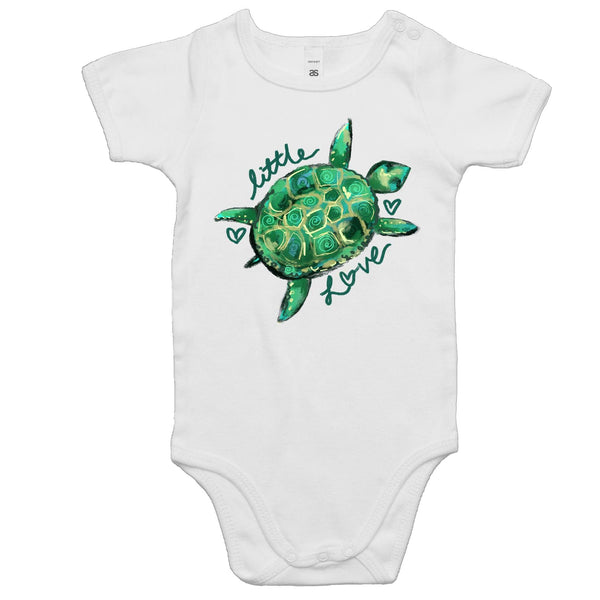 Little Love Turtle - Baby Onesie Romper