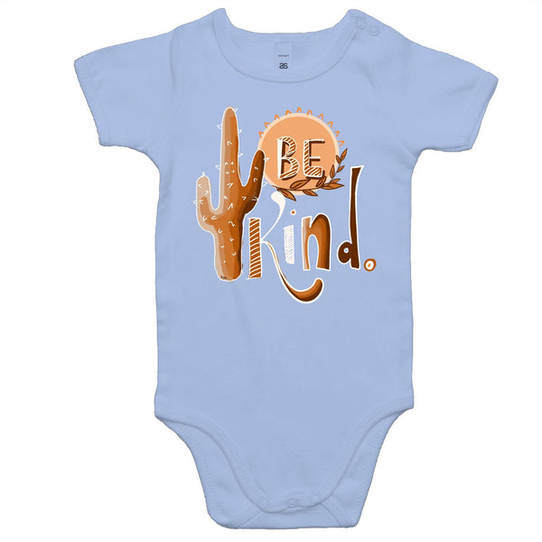 Be Kind (white outline) Baby Onesie Romper