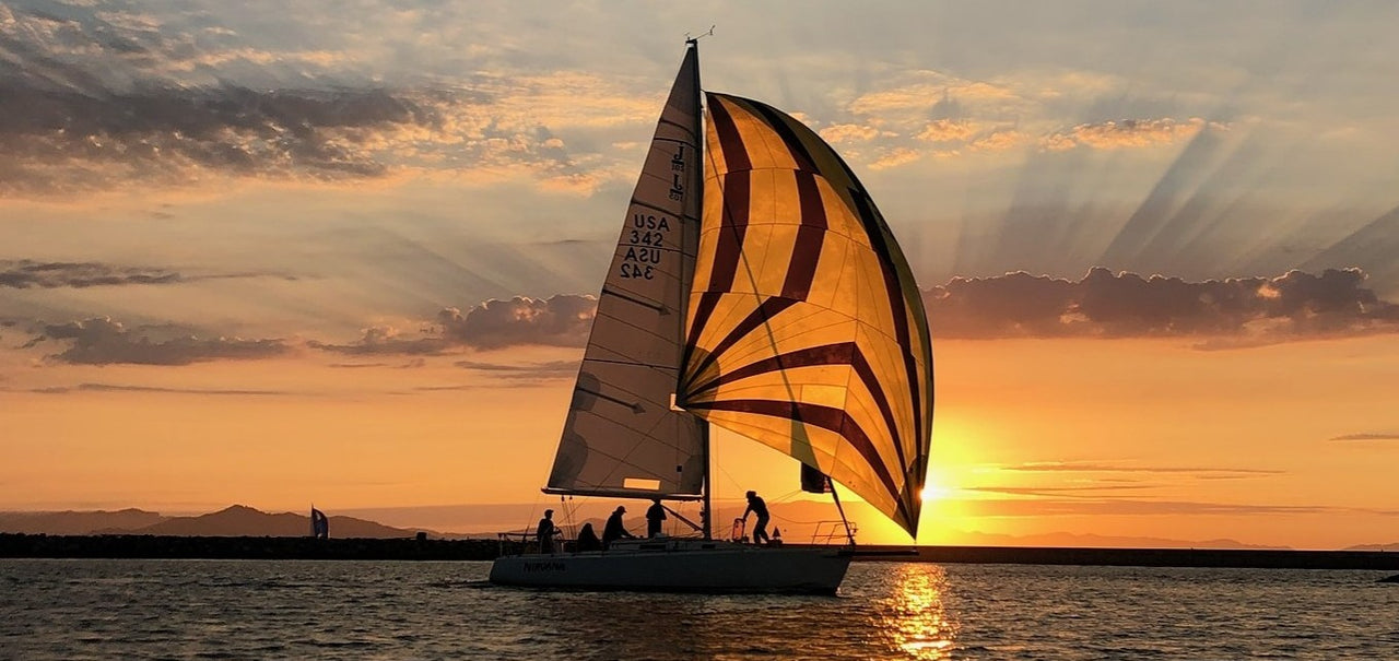 sailboat sunset San Francisco Bay zero waste razor
