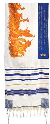 Tallit (Prayer Shawl) Flames of Pentecost Spanish