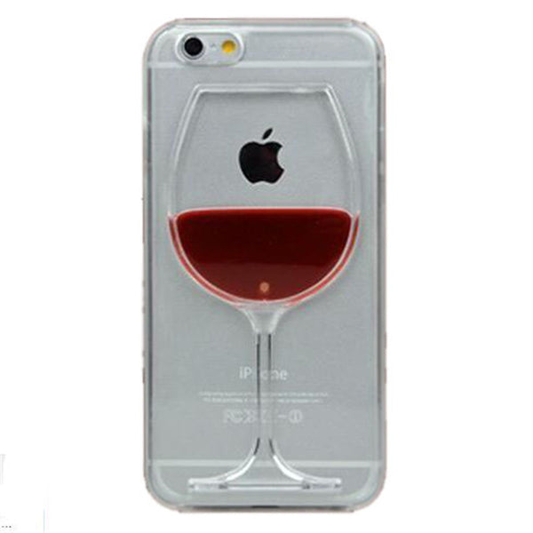 Red Wine Glass Liquid Transparent Case