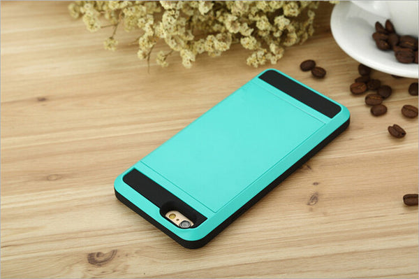 New Hybrid Tough Wallet Case For iPhones