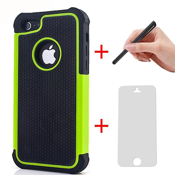 Hybrid Heavy Duty Case Cover + Touch pen + Screen Set