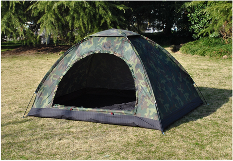 1-2 Persons Ultralight Waterproof Camouflage Beach Layer Camping Tent