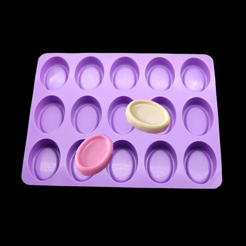 15 Oval Silicone Mold Cavity