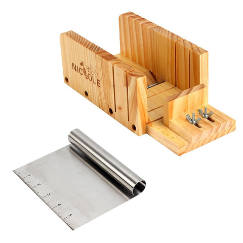 2pc Adjustable Wood Loaf Cutter Box Soap Making Supplies