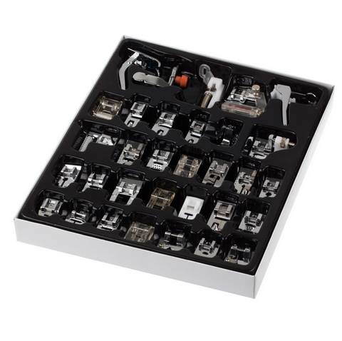 32pcs Sewing Machine Presser Foot Kit Set With Box For Brother Singer Janom