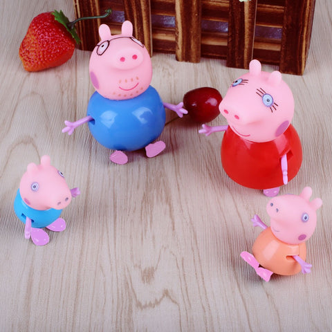 4pcs Peppa Pig Family Cartoon Set