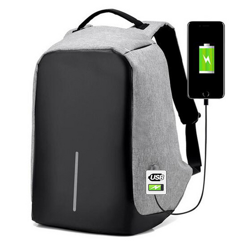 Anti theft Waterproof Backpack made with cut-proof material, hidden zipper closures and secret pockets and other security features